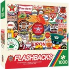 Master Pieces (Puzzles) . MST Hit The Road Jack Gas Station Signs Collage 1000 pcs