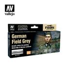 Vallejo Paints . VLJ German Field Grey Set (8pcs)