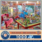 Master Pieces (Puzzles) . MST The Boy's Playroom w/ Trains and Layout 1000 pcs