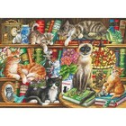 Gibsons Puzzles . GIB Puss In Books Puzzles