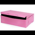 Retail Supplies . RES 14 X 10 X 4 Pink 12 Cupcake Box
