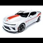 Auto World . AWD 1/18 2018 Chevrolet Yenko S/C - White w/Hugger Orange Stripes (LIMITED EDITION RUN)