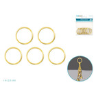 MultiCraft . MCI 1 Inch Brass Rings 5 Pack
