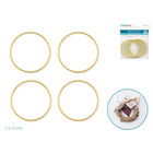 MultiCraft . MCI 2 Inch Round Brass Hoops 4 Pack