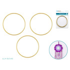 MultiCraft . MCI 2.5 Inch Brass Ring 3 Pack