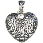 Cousins Corporation . CCA Heart Scroll Metal Necklace Accent