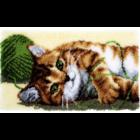 Vervaco . VVC Playful Cat - Latch Hook Rug Kit