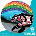 Cap Puzzles . CAP RAINBOW BEAR 500 PIECE ROUND PUZZLE