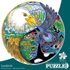 Cap Puzzles . CAP LOVEBIRDS 500 PIECE ROUND PUZZLE