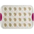 Trudeau . TDU 24 CT Mini Muffin Pan Confetti Fuchsia