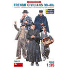 Miniart . MNA 1/35 French Civilians '30-'40s Resin Heads