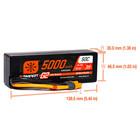 Spektrum . SPM 11.1V 5000mAh 3S 50C Smart G2 Hardcase LiPo Battery: IC3