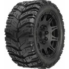 """Pro Line Racing . PRO Pro-Line Masher X HP All Terrain Belted Tires Mounted on Raid 5.7"""" Black Wheels (2)"""