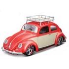 Maisto . MAI 1/18 1951 VW Beetle Custom (Met. Red w/Cream Doors/Roof Rack