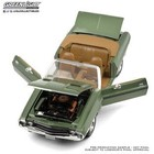 Green Light Collectibles . GNL 1:18 1970 Dodge Challenger R/T Conv F8 Green