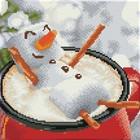 Leisure Arts . LSA Diamond Art Snowman Latte