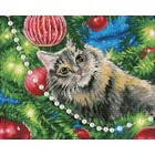 Leisure Arts . LSA Diamond Art Christmas Cat