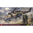 "Hasegawa . HSG 1/72 Mi-24 Hind ""UAV"" & Humanoid Light Tank ""Goat UGV"""