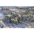 AFV Club Hobby Fan . AFV 1/35 WWII Late Version M2A1 105mm Howitzer & Carriage M2A2