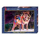 Heye Puzzles. HEY 1000pcs Precious Animals Night Wolf