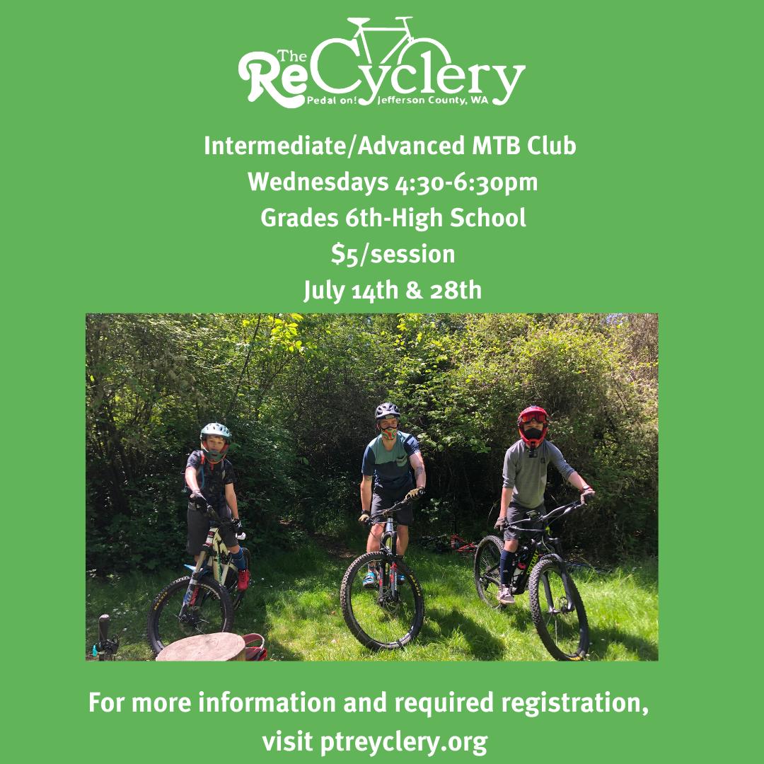 MTB Club Wednesday July Schedule
