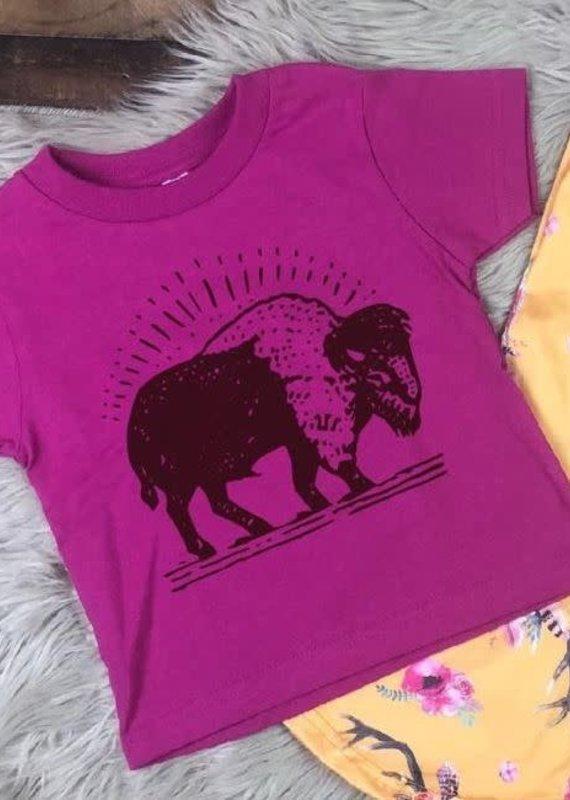 Mother Hustler, LLC Toddler Buffalo Tee