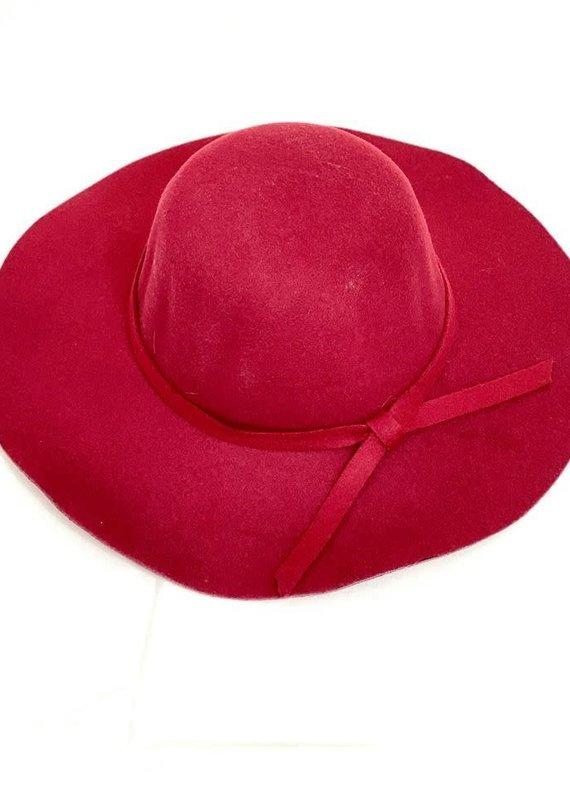 Mother Hustler, LLC Flirty Floppy Hat-Maroon