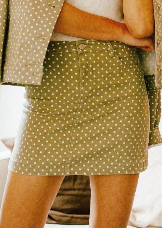 Mittoshop Polka Dot Denim Skirt