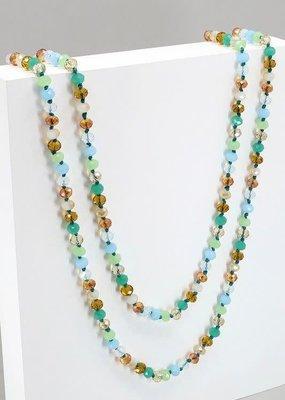 """Avenue Zoe 60"""" Metallic Crystal Necklace"""