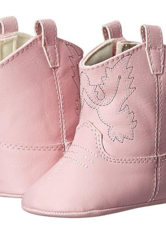 Baby Deer Pink Star Bootie