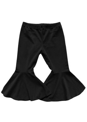 Bailey's Blossoms Velour Bell Bottoms-Black