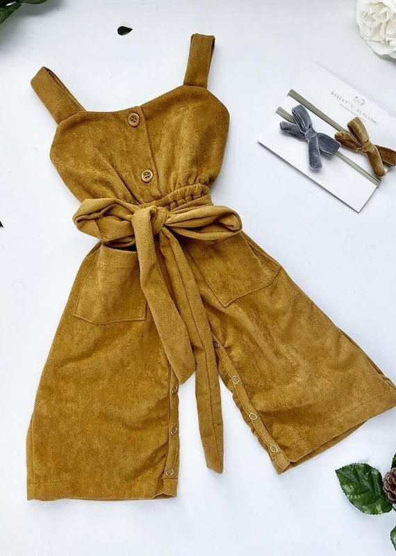 Bailey's Blossoms Taylor Suede Jumpsuit