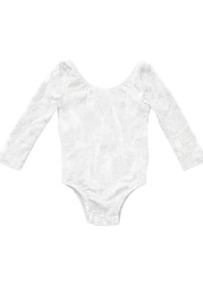Bailey's Blossoms Lace Leotard-White