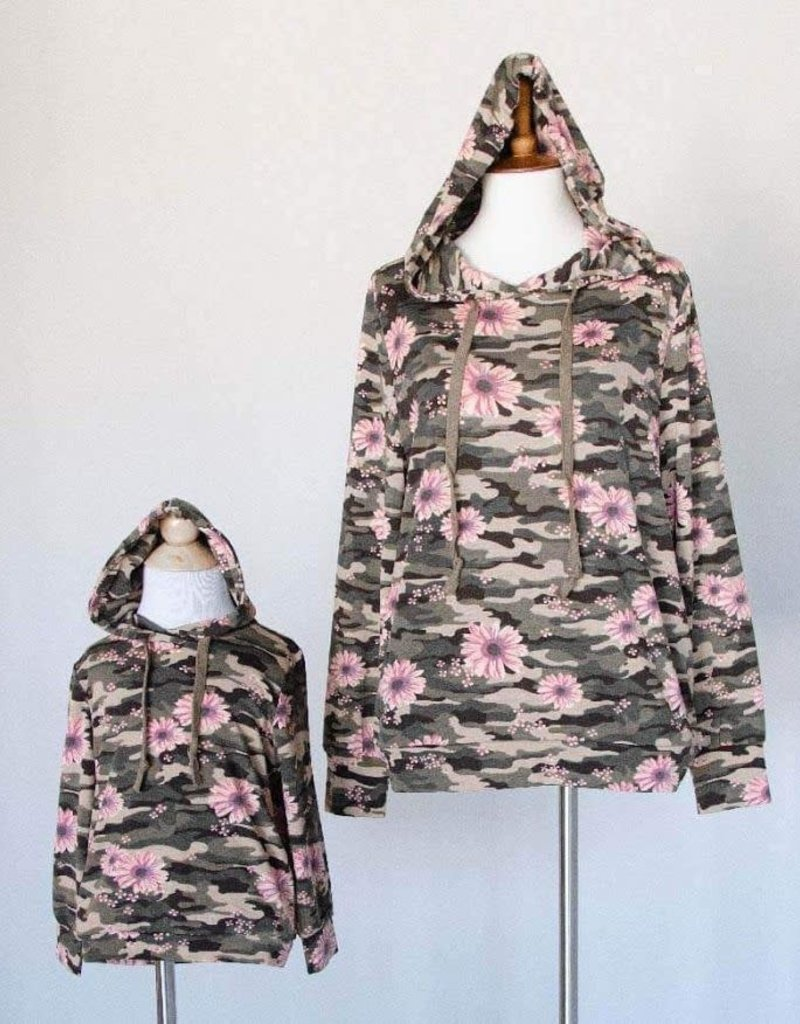 Bailey's Blossoms Baby Camo Hoodie