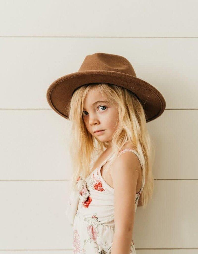 Bailey's Blossoms Child Bordeaux Brim Hat-Mocha