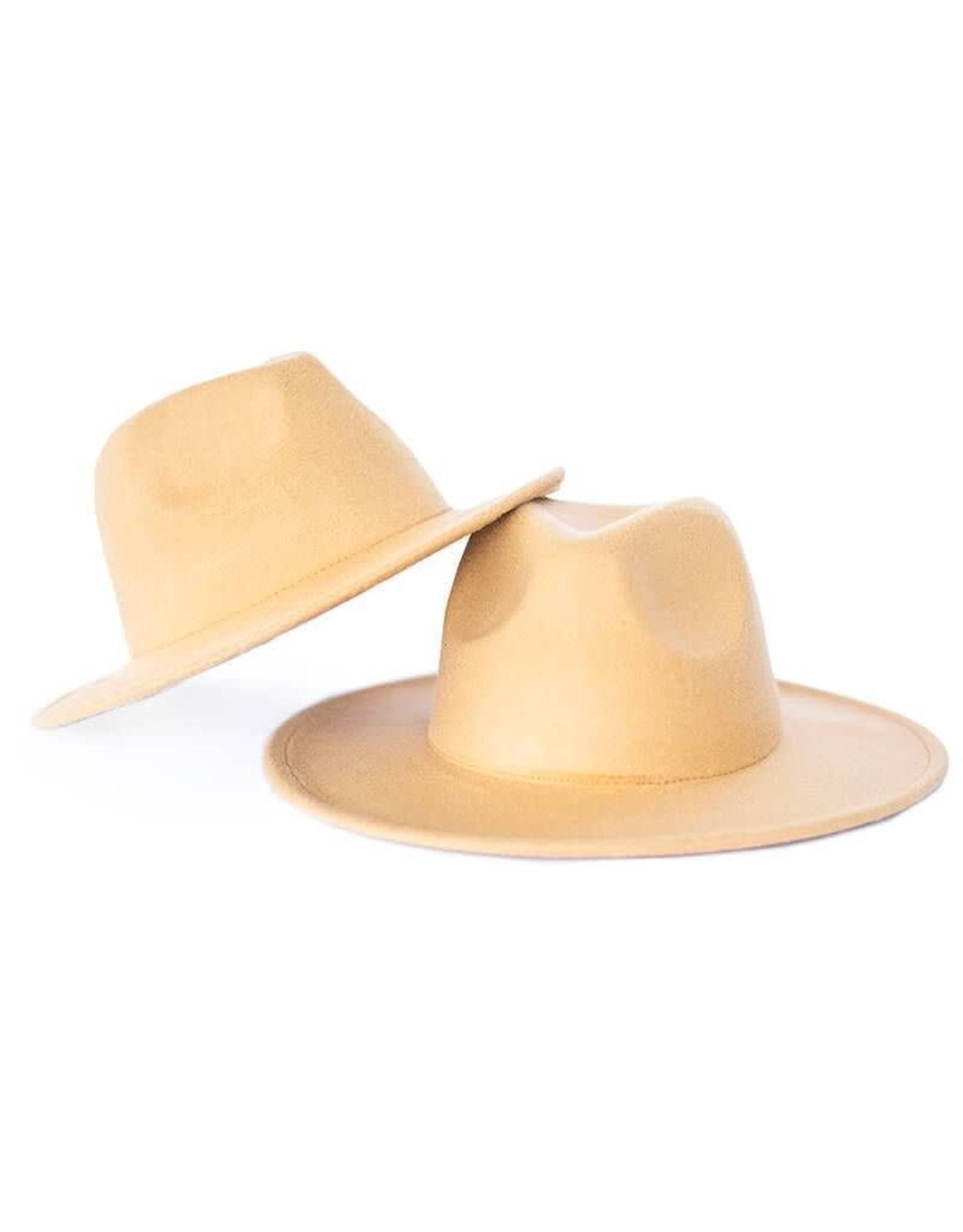 Bailey's Blossoms Adult Bordeaux Brim Hat-Camel