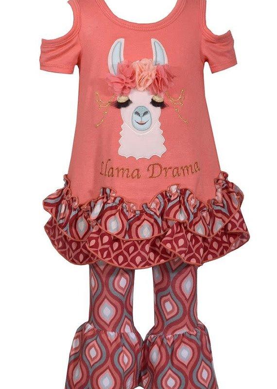 Bonnie Jean Llama Drama Knit Set
