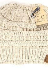 Cheveux Corp Beige Knitted Beanie