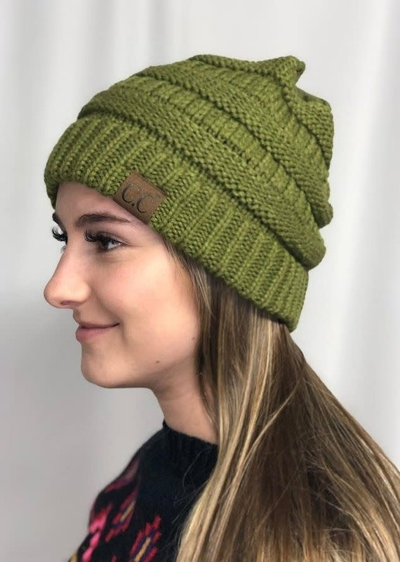 Cheveux Corp Olive Knitted Beanie