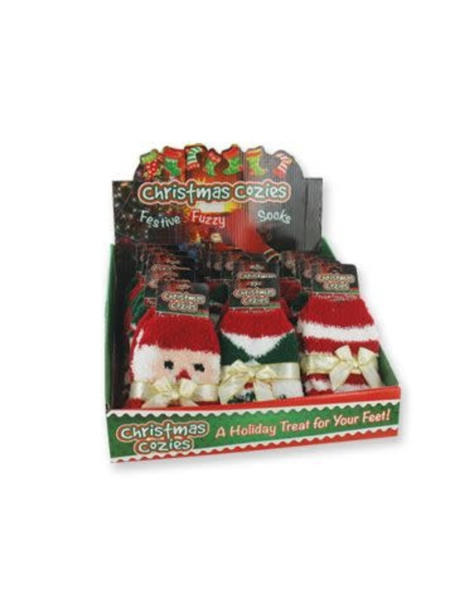 DM Merchandising Christmas Fuzzy Socks