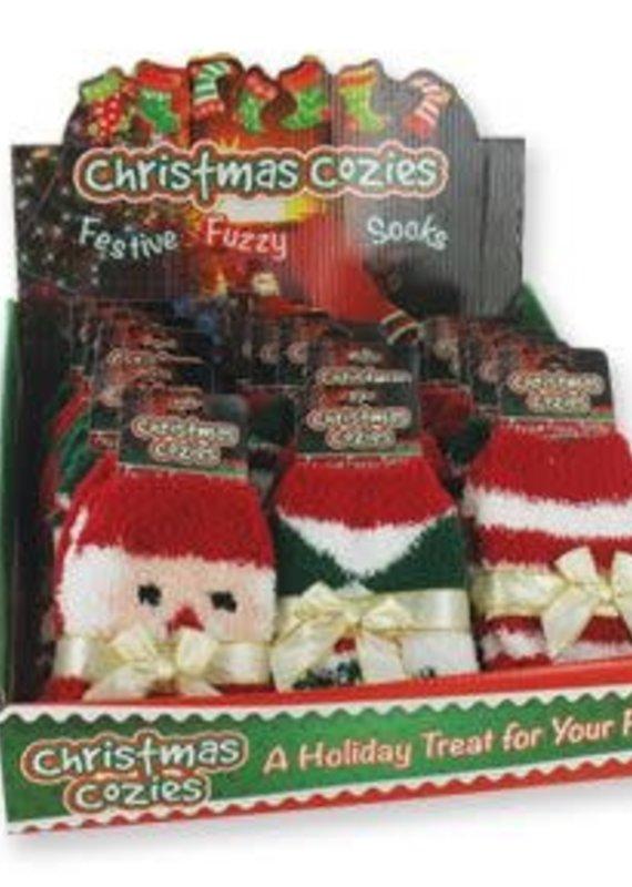 DM Merchandising Christmas Fuzzy Socks
