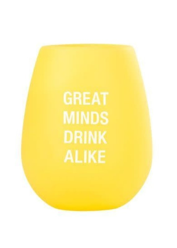 About Face Designs Greats Minds Silicone Wine Cup