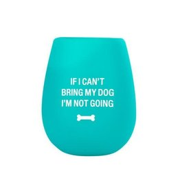 About Face Designs My Dog Silicone Wine Cup