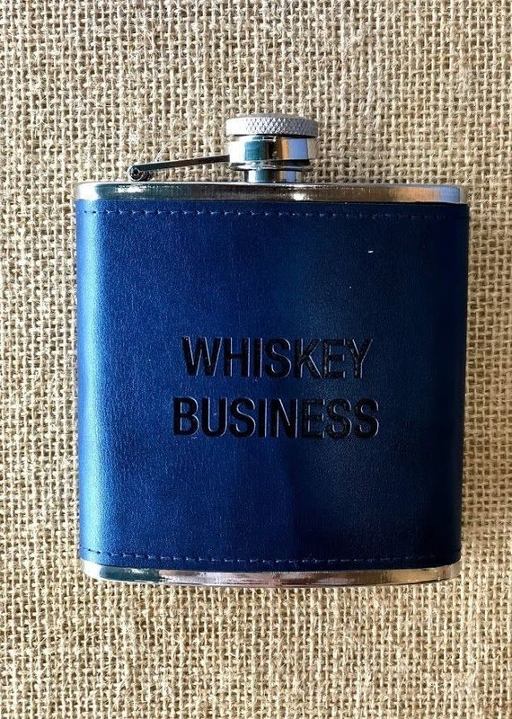 About Face Designs Whiskey Business Flask