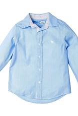 Frenchie Mini Couture Blue Swiss Dot Shirt