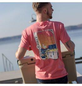 Fripp & Folly Beach Fishing T-Shirt - Salmon