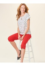 GiftCraft Inc. Dotted Short Sleeve Top