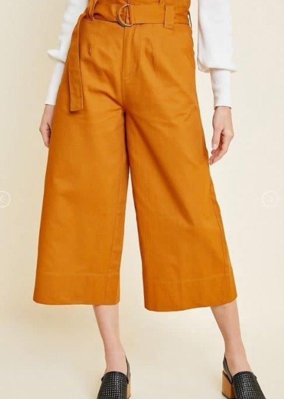 Hayden Los Angeles Wide Leg Belted Paperbag Pants