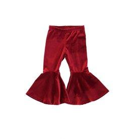 Honeydew Clothing Maroon Flared Velvet Bells