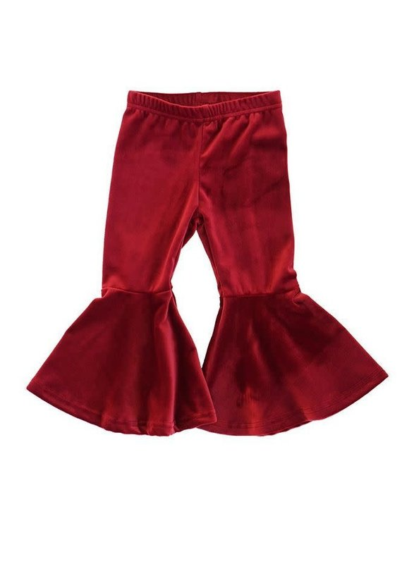 Honeydew Clothing Maroon Flared Velvet Bells
